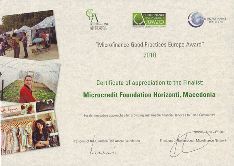 Microfinance Good Practices Award 2010